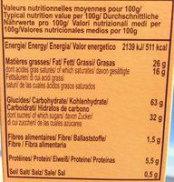 Cookies aux Pépites de Chocolat (Mous) - Voedingswaarden - fr