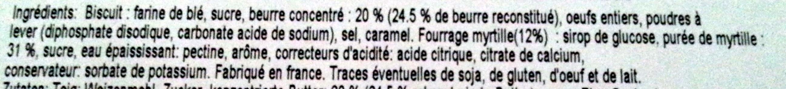 Chamonix Mont-Blanc - Gâteaux Fourrés Myrtille - Ingrédients