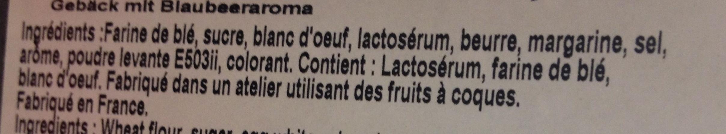 Biscuits saveur myrtille - Ingrédients