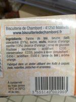 Petits fours à l'orange - Ingredients - fr