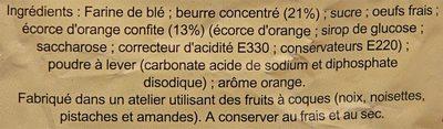 Croustillants Orange - Ingredients - fr