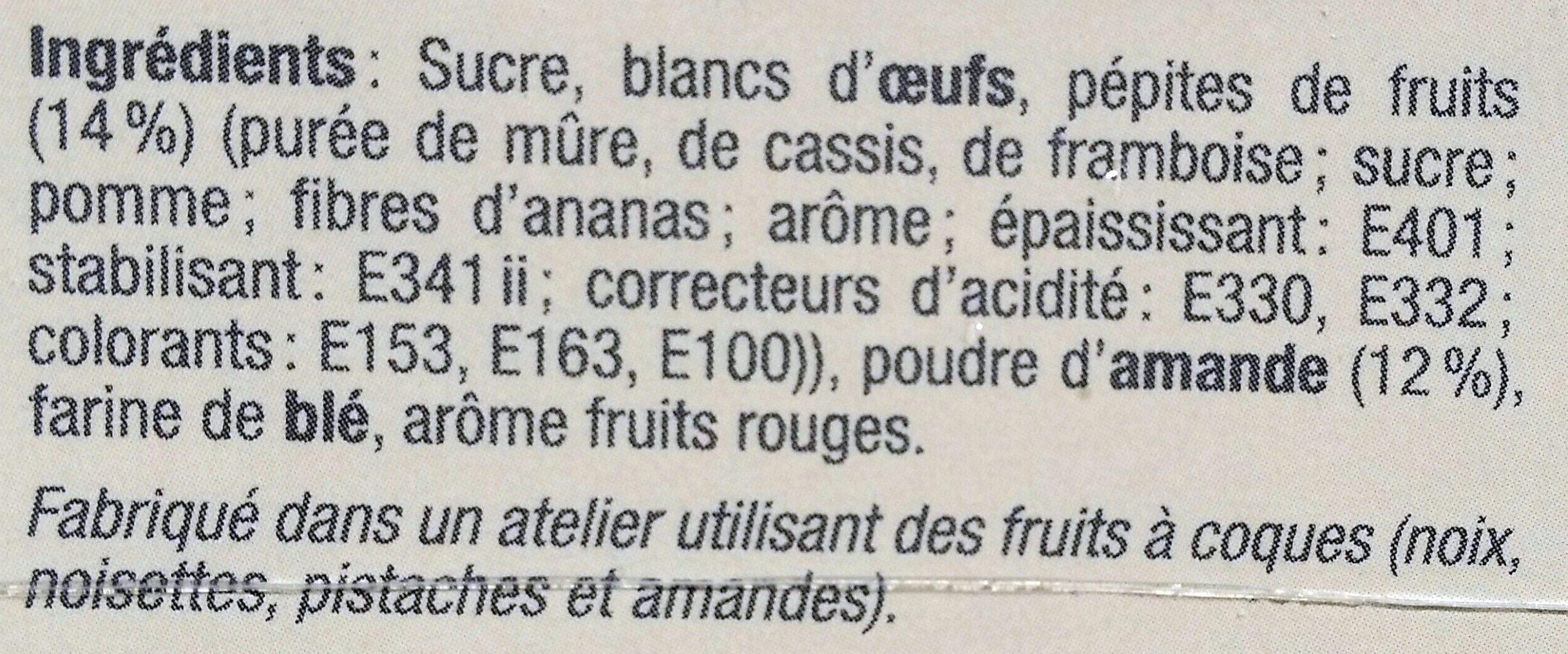Mini Meringues aux Fruits Rouges - Ingrédients - fr