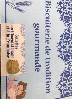 Galette au chocolat blanc et a la framboise - Produit
