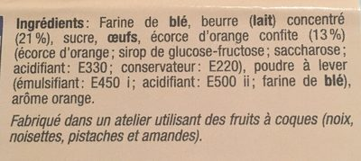 Mini palet à l'orange - Ingrediënten - fr