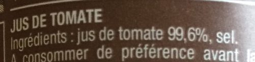 Jus tomate - Ingredients - fr