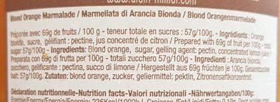 Marmelade orange blonde - Ingrédients - fr