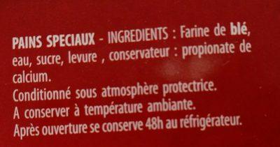 5 Pains Libanais Panorient - Ingredients