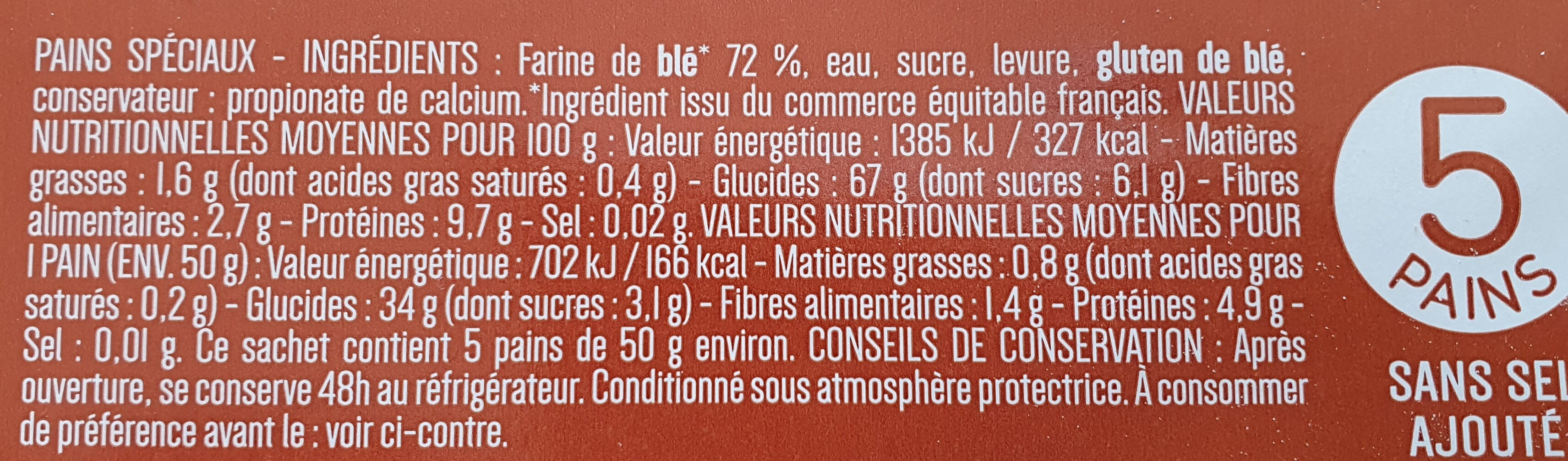 pains libanais - Ingrédients - fr