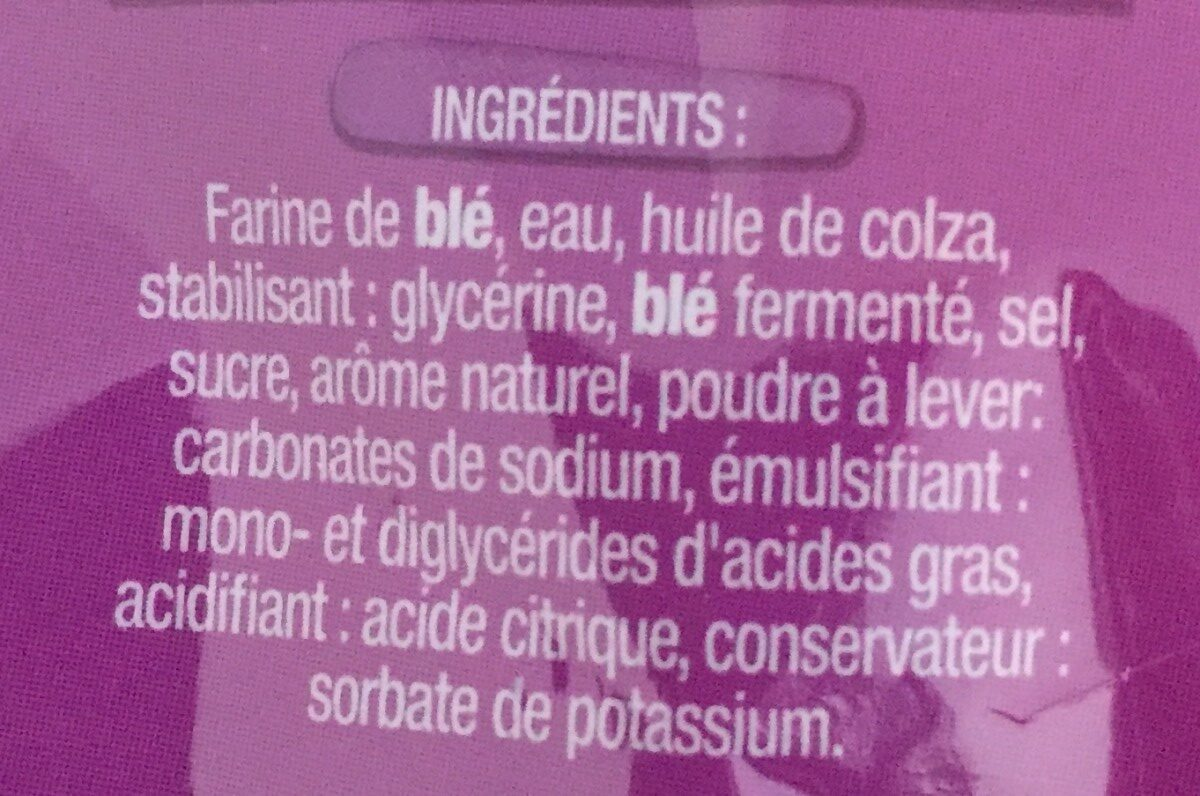 6 pains wraps - Ingredienti - fr