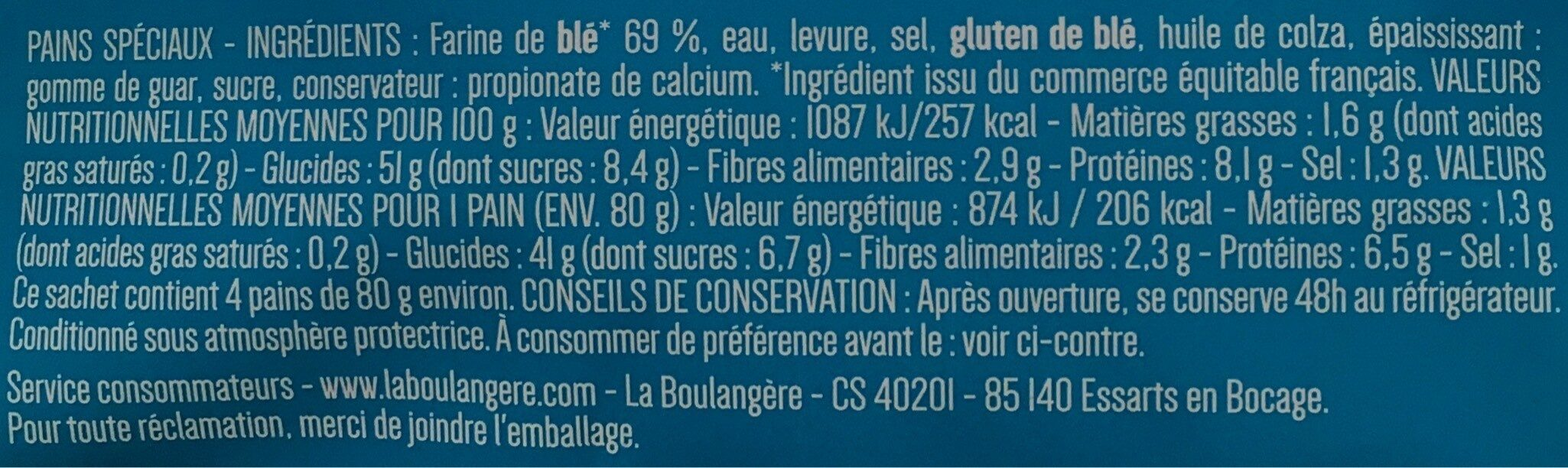 Pain pita - Ingredienti - fr