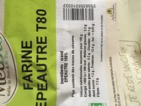 Farine d'epautre t80 - Ingredients