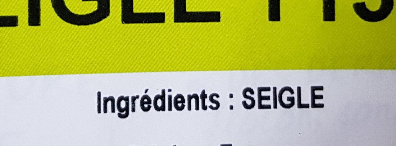 Farine de seigle T130 - Ingrédients