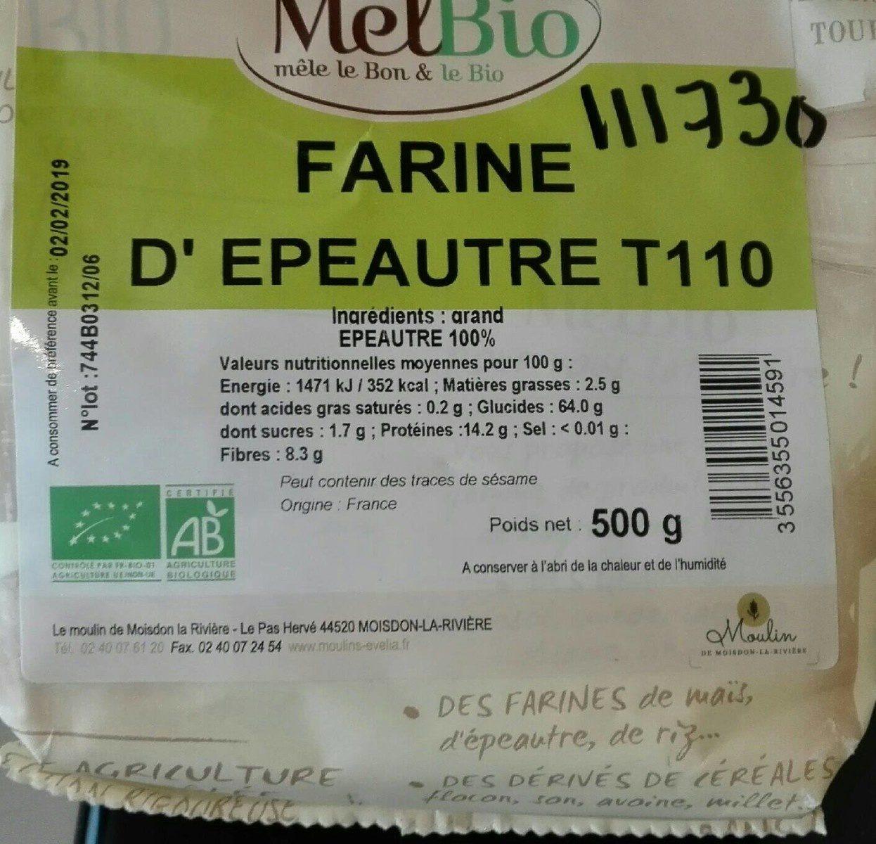 Farine d'épeautre T110 - Product