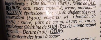 5 Pains au Chocolat Prêts à Cuire Congelés - Ingredients - fr