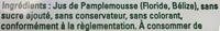 Tree Top Pamplemousse - Informations nutritionnelles