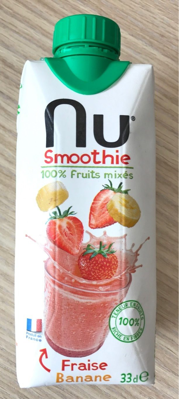 Nu Strawberry & Banana Smoothie - Product - fr