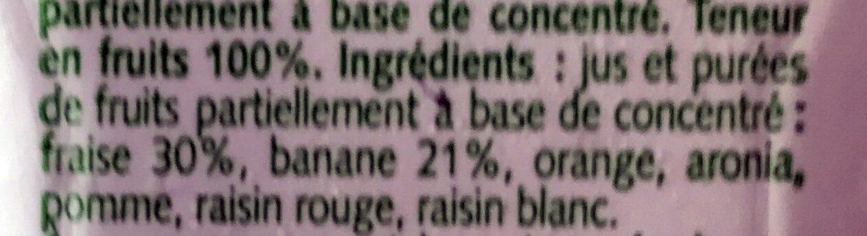 Nu Strawberry & Banana Smoothie - Ingredients - fr