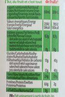 Smoothie Myrtille Framboise - Valori nutrizionali - fr
