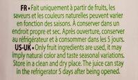 Smoothie Kiwi Pomme Ananas - Inhaltsstoffe - fr