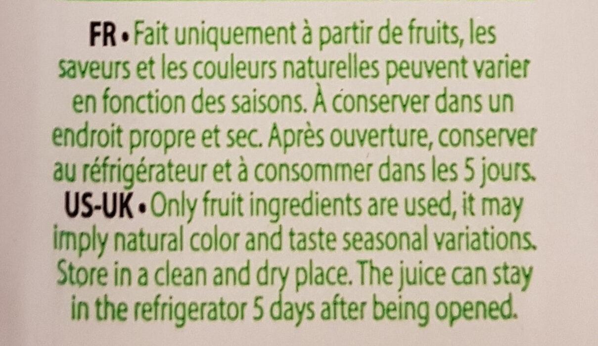 Smoothie Kiwi Pomme Ananas - Ingrédients - fr