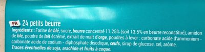 Petit Beurre - 成分 - fr