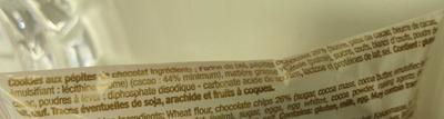 Cookies aux pépites de chocolat - Ingrédients