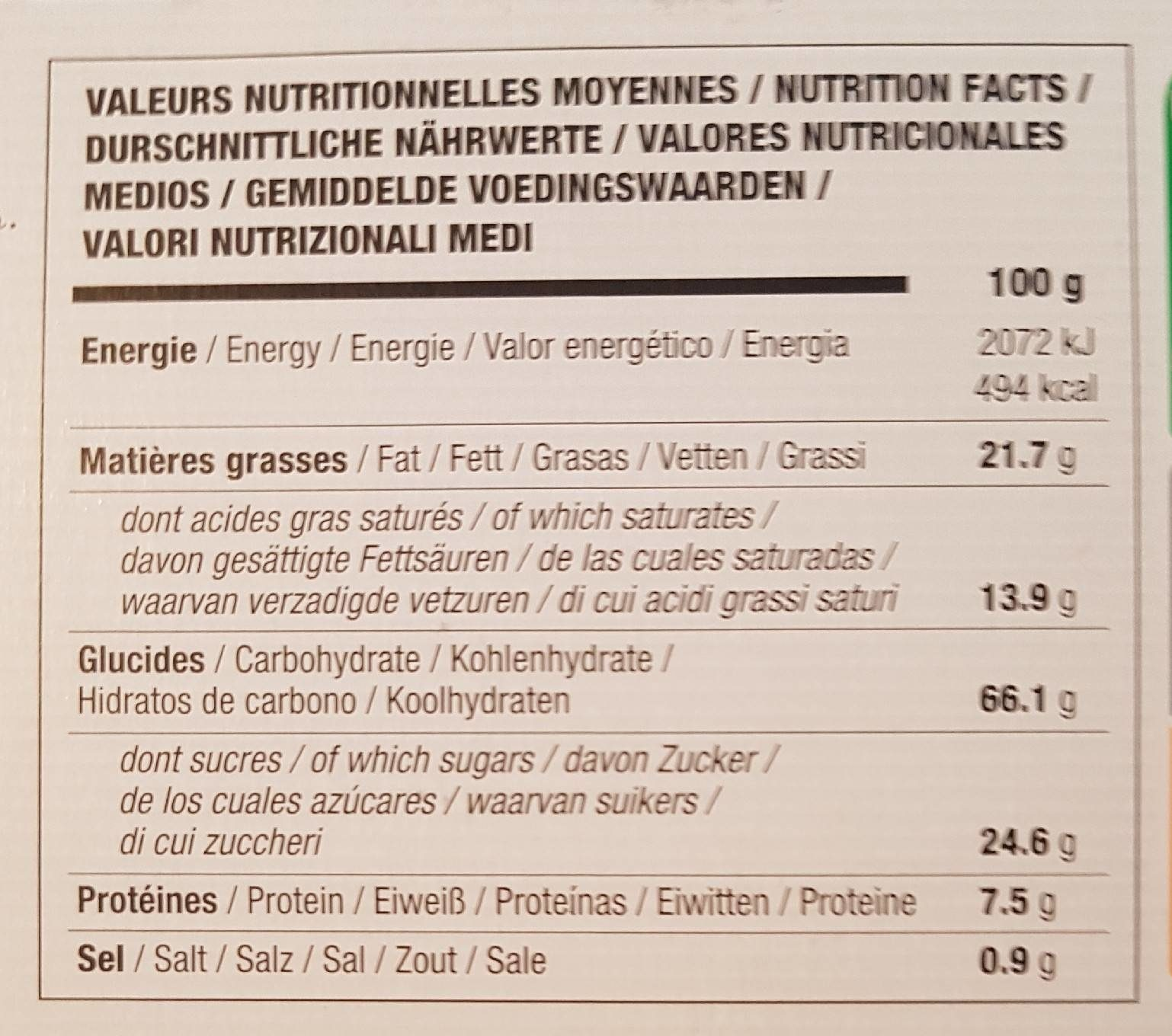 Biscuit Filet-bleu Galette Bretonne Bio - Nutrition facts - fr