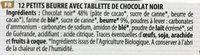 Filet Bleu - Petit Beurre Bio Avec Tablette De Chocolat - Ingredients - fr