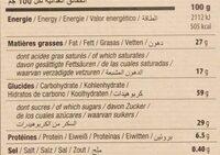 Filet Bleu - Petit Beurre Bio Avec Tablette De Chocolat - Nutrition facts - fr