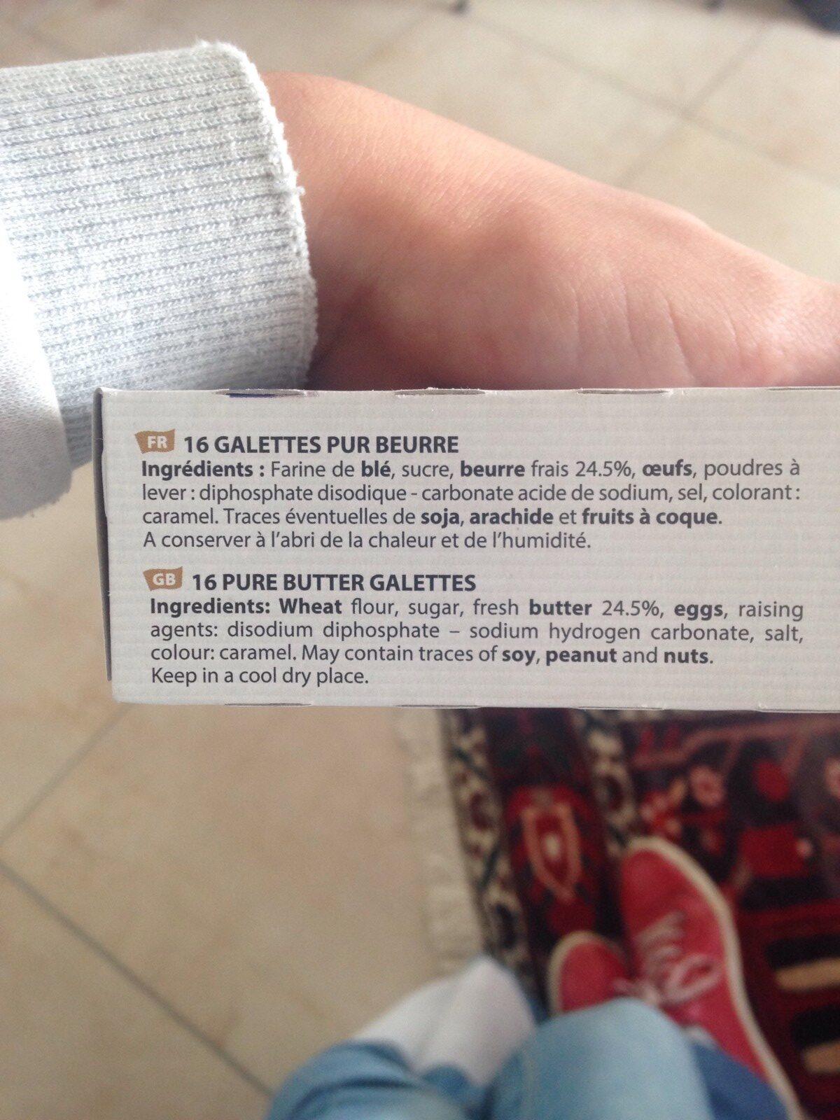 Filet Bleu Galette bretonne pur beurre le paquet de 130 g - Ingrediënten