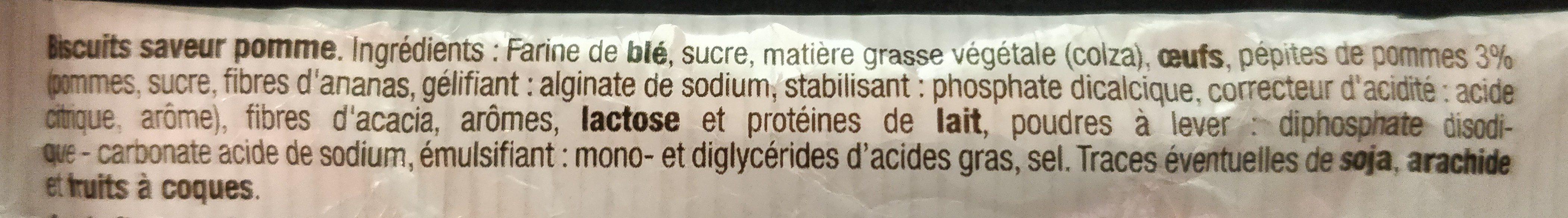 Sablé Saveur Pomme - Ingrediënten - fr