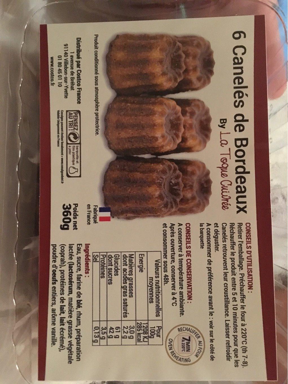 4 x 6 Canelés de Bordeaux - Produit