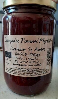 Compotée  pomme-myrtille - Product - fr