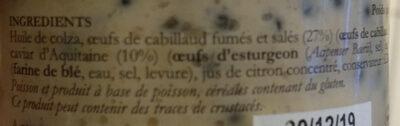 Tarama au caviar - Ingredients
