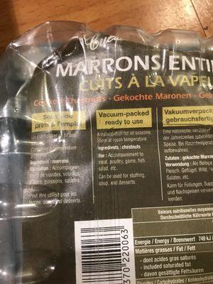 Gekochte Maronen - Ingrediënten