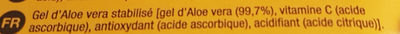 Aloe vera gel - Ingredients