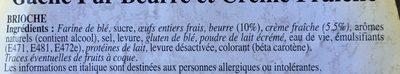 Gâche pur beurre et crème fraîche - Ingrédients - fr