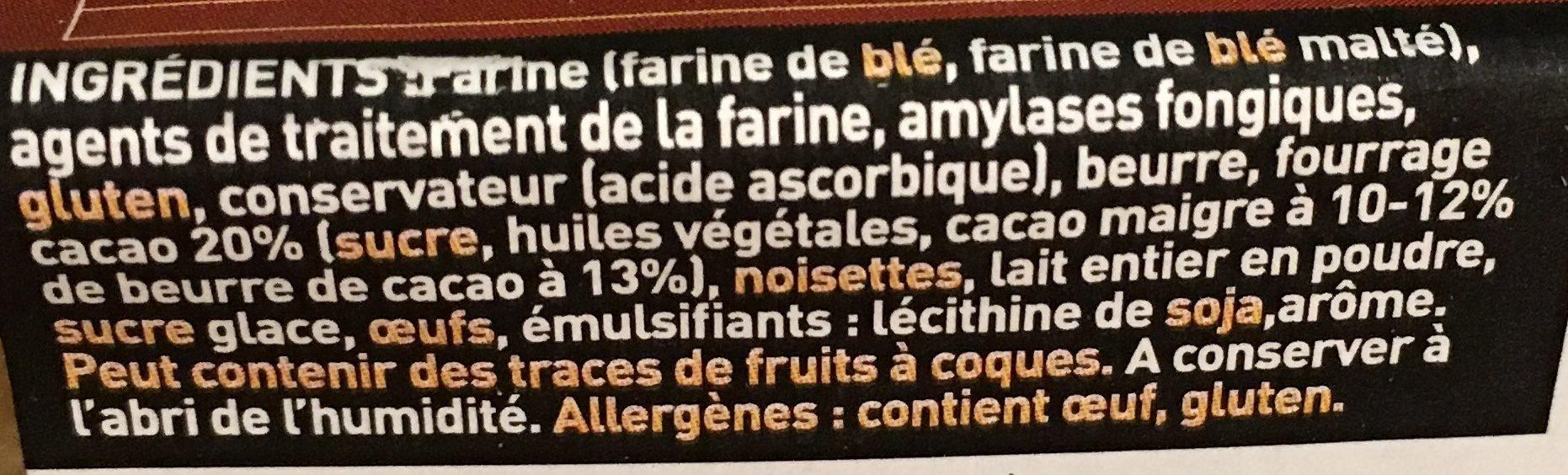 Sablés au chocolat - Ingrediënten