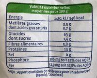 Farine de sarrasin complète - Informations nutritionnelles - fr