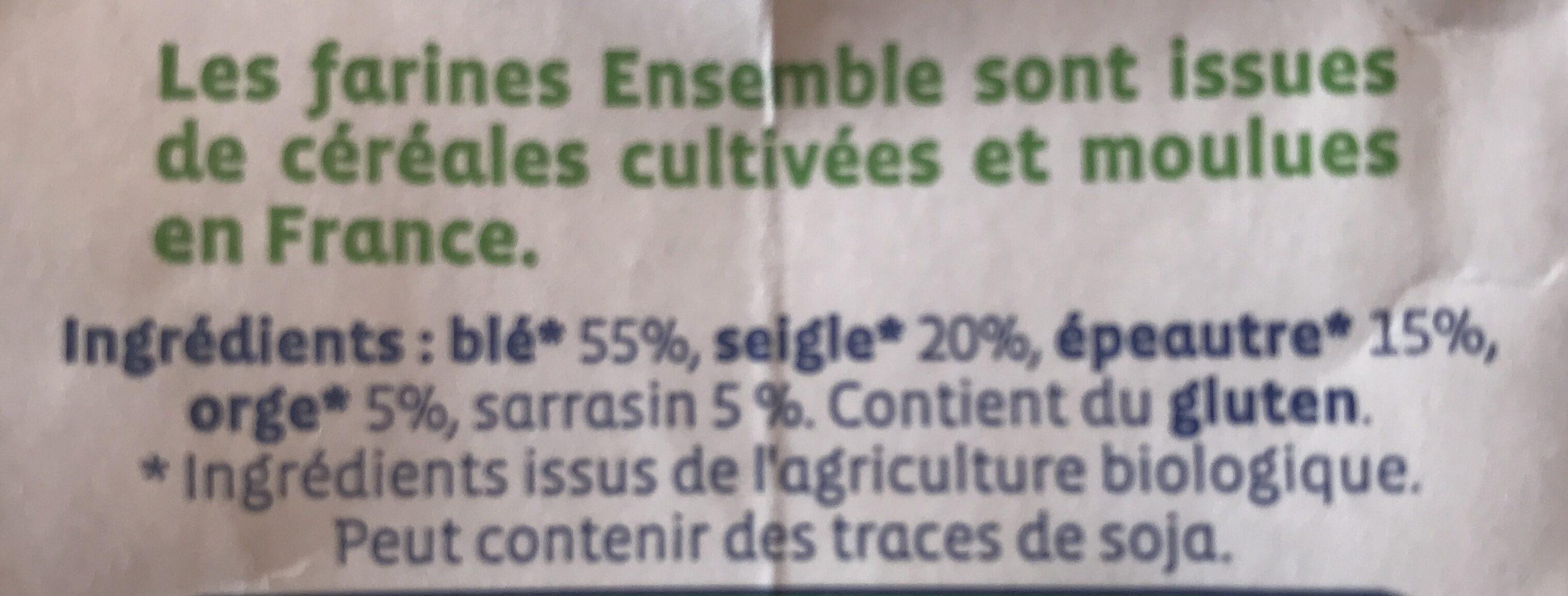 Farine 5 Céréales Type 130 Complète - Ingrediënten - fr