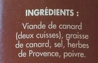 Confit de canard Lapeyrie - Ingredients - fr