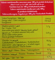 Harira marocaine - Informations nutritionnelles - fr