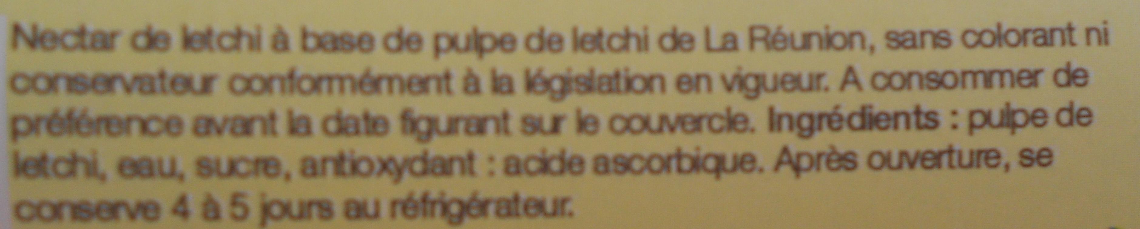 Nectar de letchis - Ingredienti - fr