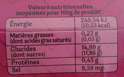 Dessert de fruits Pomme et Passion - Nutrition facts - fr