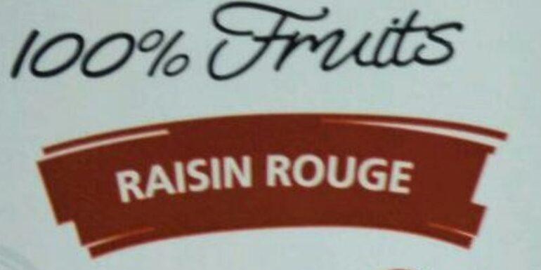 Jus de raisin rouge - Ingrediënten - fr
