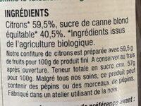 Confiture de citrons - Ingrediënten