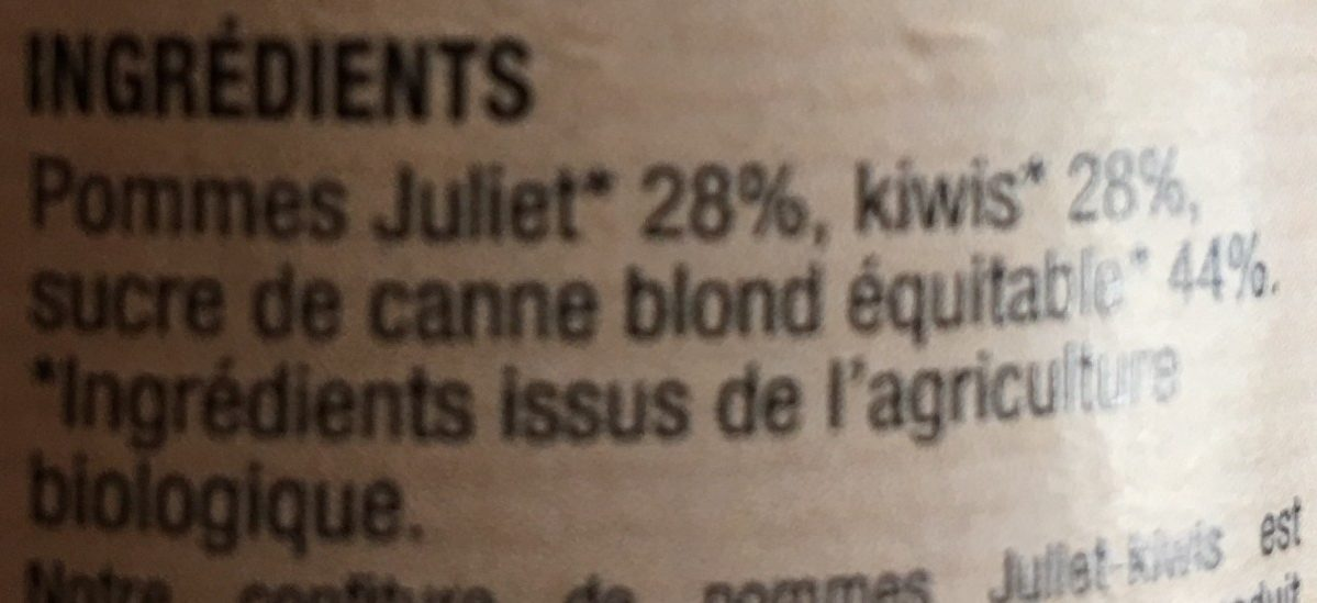 Confiture de Pommes Kiwis - Ingrediënten - fr