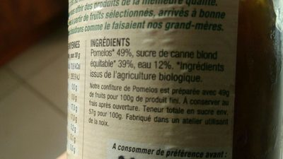 Confiture extra de pomelos - Ingrediënten