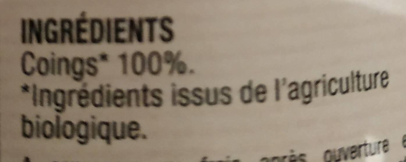 Purée de coings - Ingredients