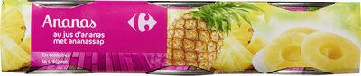 Ananas au jus d'ananas - Produit - fr